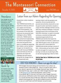 December 2020 School Newsletter