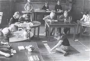 Historical Montessori classroom pic